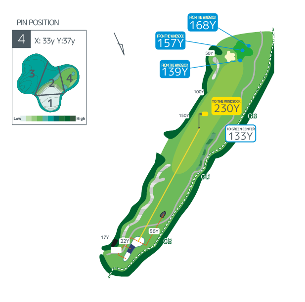 Hanazono golf hole 4 overview image