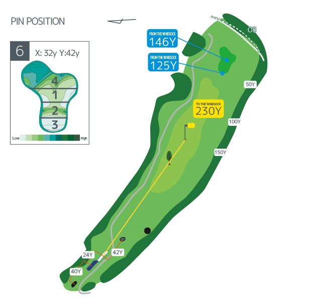 Hanazono golf hole 6 overview image