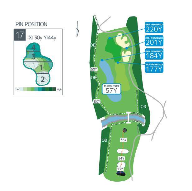 Hanazono golf hole 17 overview image