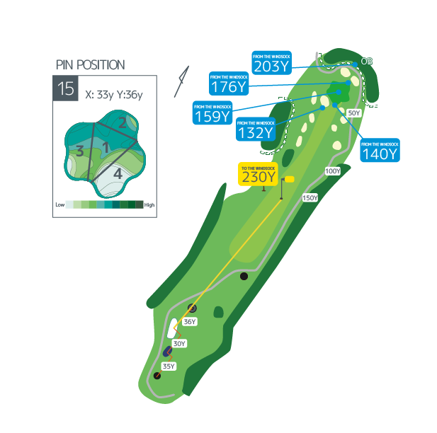 Hanazono golf hole 15 overview image